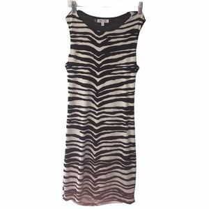 Jennifer Lope Zebra Stripped Sleeveless Dress